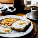 beans, fried eggs, breakfast