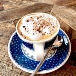 coffee, cappuccino, drinking